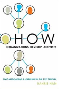 Book Cover Image - How organisations develop activists, by Hahrie Han
